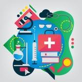 Επίπεδη απεικόνιση ιατρικής Στοκ Εικόνες