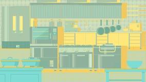 Επίπεδη απεικόνιση κουζινών Στοκ εικόνες με δικαίωμα ελεύθερης χρήσης
