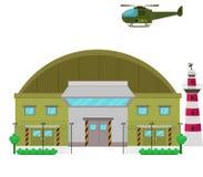 Επίπεδη απεικόνιση σχεδίου στρατόπεδων στρατιωτικών βάσεων ελεύθερη απεικόνιση δικαιώματος