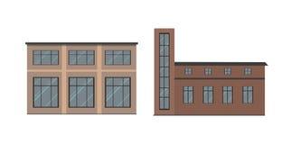 Επίπεδη απεικόνιση τύπων κτηρίων διανυσματική απεικόνιση