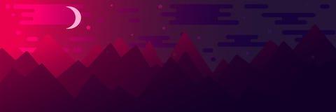 Επίπεδη απεικόνιση ύφους με τα βουνά ελεύθερη απεικόνιση δικαιώματος