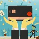Επίπεδη απεικόνιση on_22_business, δάνεια, φόροι, και χρέος zombie κοινωνικό πρόβλημα ατόμων ολόκληρης της παγκόσμιας εξάρτησης σ διανυσματική απεικόνιση