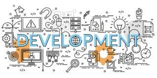 Επίπεδη ζωηρόχρωμη έννοια σχεδίου για την ανάπτυξη Στοκ Εικόνες