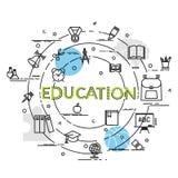 Επίπεδη ζωηρόχρωμη έννοια σχεδίου για την εκπαίδευση Ιδέα της παραγωγής να δημιουργήσει Στοκ Φωτογραφία