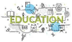 Επίπεδη ζωηρόχρωμη έννοια σχεδίου για την εκπαίδευση Ιδέα της παραγωγής να δημιουργήσει Στοκ εικόνες με δικαίωμα ελεύθερης χρήσης