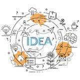 Επίπεδη ζωηρόχρωμη έννοια σχεδίου για την ιδέα Στοκ εικόνα με δικαίωμα ελεύθερης χρήσης