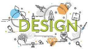 Επίπεδη ζωηρόχρωμη έννοια σχεδίου για το γραφικό σχέδιο Ιδέα της παραγωγής Στοκ εικόνα με δικαίωμα ελεύθερης χρήσης