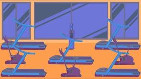 Επίπεδη ζωηρόχρωμη γυμναστική 09 Στοκ Εικόνα