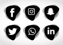 Επίπεδη τεχνολογία εικονιδίων, κοινωνικά μέσα, δίκτυο, έννοια υπολογιστών Αφηρημένο υπόβαθρο με την ομάδα αντικειμένων στοιχείων  Στοκ φωτογραφία με δικαίωμα ελεύθερης χρήσης