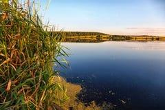 Επίπεδος ήρεμος ποταμός Στοκ Εικόνες