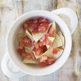 Επίπεδος βάλτε Tortilla τη σούπα 03 Στοκ εικόνες με δικαίωμα ελεύθερης χρήσης