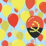 Επίπεδο άνευ ραφής σχέδιο εθνικής μέρας της Ανγκόλα Στοκ εικόνες με δικαίωμα ελεύθερης χρήσης