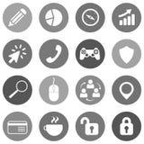 Επίπεδο εικονίδιο που τίθεται για τους ιστοχώρους και mobiles Στοκ φωτογραφία με δικαίωμα ελεύθερης χρήσης