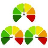 Επίπεδο εικονίδιο ταχυμέτρων Ζωηρόχρωμο ταχύμετρο σημαδιών Διανυσματικό λογότυπο για το σχέδιο Ιστού διανυσματική απεικόνιση