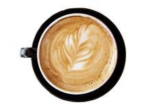 επίπεδο λευκό φύλλων σχεδίου καφέ Στοκ φωτογραφία με δικαίωμα ελεύθερης χρήσης
