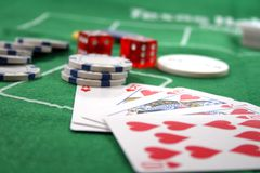 επίπεδο πόκερ βασιλικό Στοκ φωτογραφία με δικαίωμα ελεύθερης χρήσης