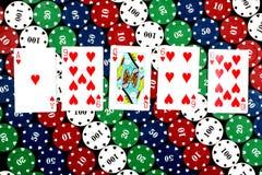 επίπεδο πόκερ Στοκ Εικόνες
