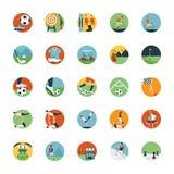 Επίπεδο σύνολο εικονιδίων αθλητικού εικονιδίου Στοκ εικόνα με δικαίωμα ελεύθερης χρήσης