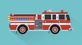 Επίπεδο ύφος σχεδίου μεταφορών μηχανών διάσωσης πυροσβεστικών οχημάτων απεικόνιση αποθεμάτων