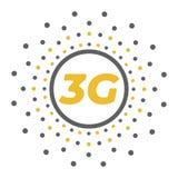 Επίπεδο 3g διανυσματικό λογότυπο με τα αφηρημένα γεωμετρικά σημεία Διανυσματική απεικόνιση