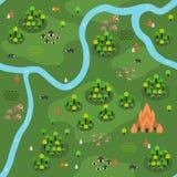 Επίπεδο Southeast-Asian σχέδιο διάφορο Γ χαρτών ζουγκλών Ελεύθερη απεικόνιση δικαιώματος