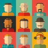 Επίπεδα εικονίδια ανθρώπων Στοκ Εικόνα
