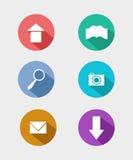 Επίπεδα εικονίδια για τον Ιστό και κινητές εφαρμογές Στοκ Εικόνες