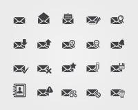 Επίπεδα εικονίδια ηλεκτρονικού ταχυδρομείου καθορισμένα Στοκ φωτογραφία με δικαίωμα ελεύθερης χρήσης