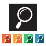 Επίπεδα εικονίδια (που ενισχύουν - γυαλί, αναζήτηση), Στοκ εικόνα με δικαίωμα ελεύθερης χρήσης