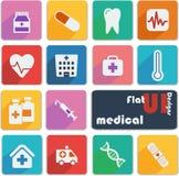Επίπεδα εικονίδια σχεδίου UI - ιατρικά Στοκ Φωτογραφίες