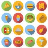 Επίπεδα εικονίδια τροφίμων Στοκ φωτογραφία με δικαίωμα ελεύθερης χρήσης