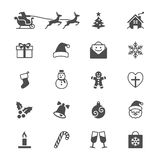 Επίπεδα εικονίδια Χριστουγέννων Στοκ εικόνες με δικαίωμα ελεύθερης χρήσης