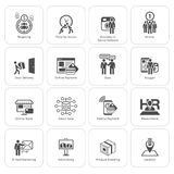 Επίπεδα επιχειρησιακά εικονίδια σχεδίου καθορισμένα Στοκ φωτογραφίες με δικαίωμα ελεύθερης χρήσης