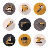 Επίπεδα εργαλεία εικονιδίων Στοκ Φωτογραφία