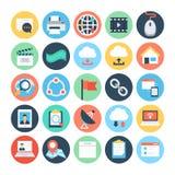 Επίπεδα διανυσματικά εικονίδια 4 επικοινωνίας απεικόνιση αποθεμάτων
