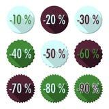 Επίπεδα κουμπιά πωλήσεων Στοκ Εικόνες