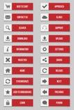 Επίπεδα ορθογώνια κουμπιά Στοκ φωτογραφίες με δικαίωμα ελεύθερης χρήσης
