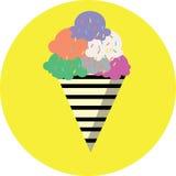 Επίπεδα παγωτά εικονιδίων χρώματος Στοκ Φωτογραφίες