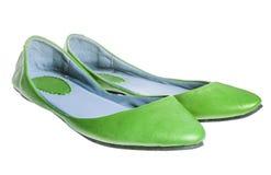 Επίπεδα παπούτσια δέρματος στοκ φωτογραφίες