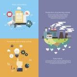 Επίπεδες απεικονίσεις επιχειρησιακού infographics στοκ εικόνες
