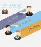 Επίπεδες απεικονίσεις επιχειρησιακού infographics Στοκ φωτογραφία με δικαίωμα ελεύθερης χρήσης