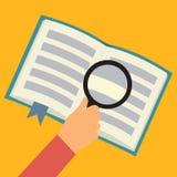 Επίπεδη έννοια βιβλίων ανάγνωσης Στοκ εικόνα με δικαίωμα ελεύθερης χρήσης