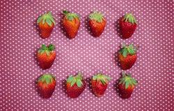 Επίπεδη ακτίνα φραουλών Στοκ Εικόνες