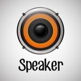 Επίπεδη απεικόνιση για το σχέδιο ομιλητών Στοκ Φωτογραφία
