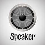 Επίπεδη απεικόνιση για το σχέδιο ομιλητών Στοκ εικόνες με δικαίωμα ελεύθερης χρήσης