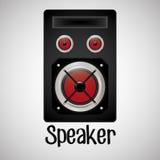 Επίπεδη απεικόνιση για το σχέδιο ομιλητών Στοκ Εικόνα