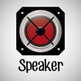 Επίπεδη απεικόνιση για το σχέδιο ομιλητών Στοκ φωτογραφίες με δικαίωμα ελεύθερης χρήσης