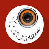 Επίπεδη απεικόνιση για το σχέδιο ομιλητών Στοκ φωτογραφία με δικαίωμα ελεύθερης χρήσης