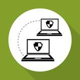 Επίπεδη απεικόνιση για το σύστημα ασφαλείας Στοκ φωτογραφία με δικαίωμα ελεύθερης χρήσης