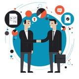 Επίπεδη απεικόνιση επιχειρησιακής συνεργασίας απεικόνιση αποθεμάτων